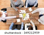 business  office people ... | Shutterstock . vector #349212959