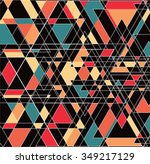 abstract triangle pattern....   Shutterstock .eps vector #349217129