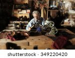 craftsman making luxury... | Shutterstock . vector #349220420