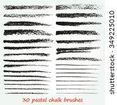 a set of vector brush strokes... | Shutterstock .eps vector #349225010