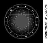 zodiac wheel monochrome ... | Shutterstock .eps vector #349230098