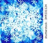 watercolor winter background ... | Shutterstock . vector #349231124
