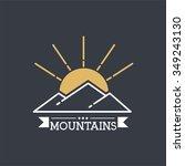 vector mountains icon symbol | Shutterstock .eps vector #349243130