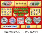 lottery scratch off set. with... | Shutterstock .eps vector #349246694