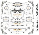 set of vintage decorations... | Shutterstock .eps vector #349249076