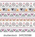 seamless colorful aztec pattern.... | Shutterstock . vector #349250588