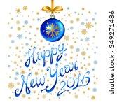 christmas balls and stars....   Shutterstock .eps vector #349271486