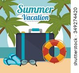 summer  travel and vacations... | Shutterstock .eps vector #349274420