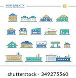 set of line flat design... | Shutterstock . vector #349275560