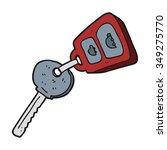 freehand drawn cartoon key | Shutterstock .eps vector #349275770