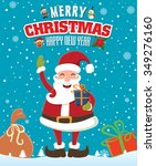 vintage christmas poster design ... | Shutterstock .eps vector #349276160