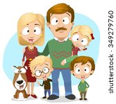 very adorable big family... | Shutterstock .eps vector #349279760