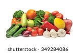 collection fruits and... | Shutterstock . vector #349284086