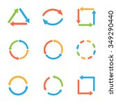 coloured round arrow set for... | Shutterstock .eps vector #349290440