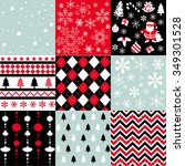 christmas patterns | Shutterstock .eps vector #349301528