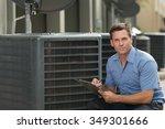 thirtyish air conditioning... | Shutterstock . vector #349301666