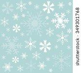 winter snowflakes blue... | Shutterstock .eps vector #349301768