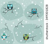 winter seamless pattern   Shutterstock .eps vector #349301828
