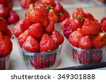 Fresh Strawberry At Market In...