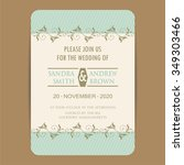 vintage wedding invitation card. | Shutterstock .eps vector #349303466