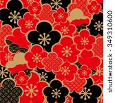 the beautiful pattern of japan | Shutterstock .eps vector #349310600