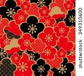 the beautiful pattern of japan | Shutterstock .eps vector #349310600