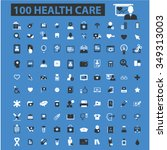 health care  medicine  icons ... | Shutterstock .eps vector #349313003