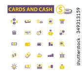 cards  cash  money  payment ... | Shutterstock .eps vector #349313159
