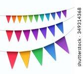 vector set of multicolored... | Shutterstock .eps vector #349314368
