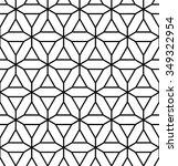 vector modern seamless geometry ... | Shutterstock .eps vector #349322954