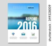 business templates for brochure ... | Shutterstock .eps vector #349328009