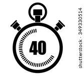 stopwatch vector icon  40... | Shutterstock .eps vector #349330514
