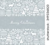 christmas greeting card.... | Shutterstock . vector #349336820