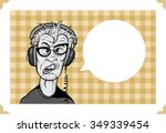 greeting card with mad geek in...
