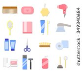 beauty care  spa and hygiene... | Shutterstock .eps vector #349340684