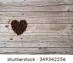 Heart From Coffee Beans On...