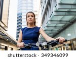 young woman in business wear... | Shutterstock . vector #349346099