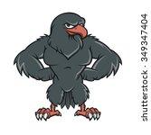 black hawk cartoon  | Shutterstock .eps vector #349347404