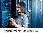 young engineer businesswoman... | Shutterstock . vector #349353263