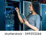 young engineer businesswoman... | Shutterstock . vector #349353266