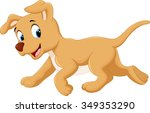 cute dog cartoon | Shutterstock .eps vector #349353290