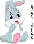 cute rabbit cartoon   Shutterstock .eps vector #349353686