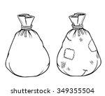 vector full sack  hand drawn ... | Shutterstock .eps vector #349355504