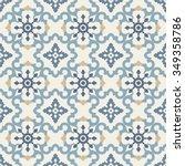 seamless vector retro pattern.... | Shutterstock .eps vector #349358786