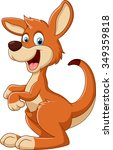 cartoon fun kangaroo | Shutterstock .eps vector #349359818