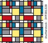 geometric vector pattern in... | Shutterstock .eps vector #349381328