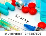 scurvy   diagnosis written on a ... | Shutterstock . vector #349387808