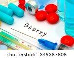 scurvy   diagnosis written on a ... | Shutterstock . vector #349387808