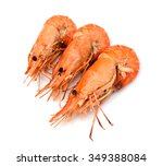 Shrimps. Prawns Isolated On A...