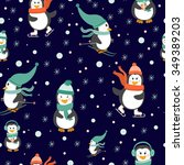 vector winter seamless pattern... | Shutterstock .eps vector #349389203